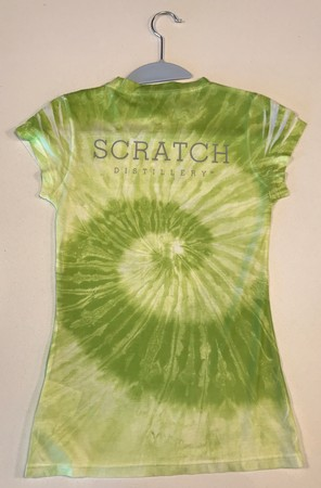 Ladies CD Tie-Dye V neck, L