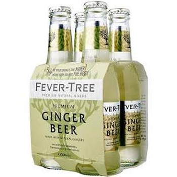 Fever-Tree Ginger Beer 200ml 4pk